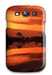 New Cute Funny Kinderdijk Sunset Case Cover/ Galaxy S3 Case Cover