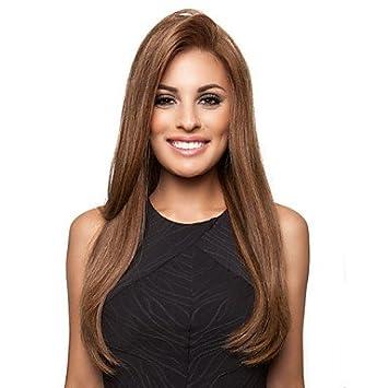 Hjl Hochwertige Hübsche Mittellang Glatt Braun Haare