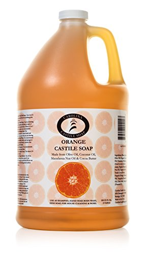 Carolina Castile Soap Orange w/Organic Cocoa Butter | Certified Organic 1 Gallon