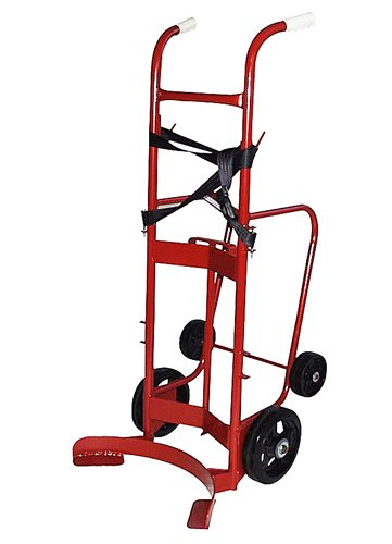 Milwaukee Hand Trucks 40779 55-Gallon 4-Wheel Poly/Steel Drum Truck, 1000 LB Load ()