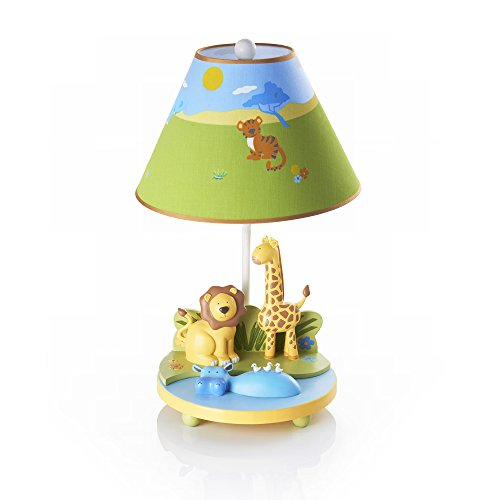 Guidecraft Hand-painted & Hand Crafted Savanna Smiles - Table Lamp For Kids Room by Guidecraft