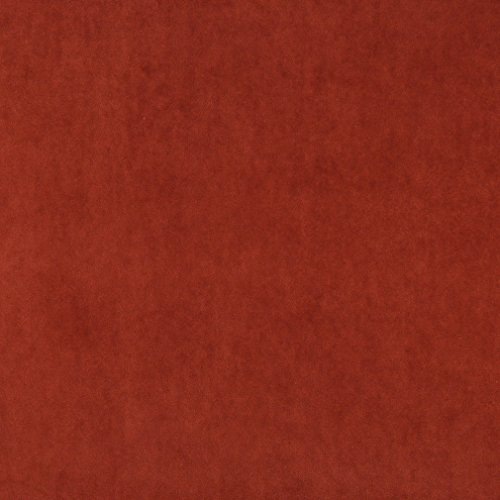 A0000L Rust Red Authentic Cotton Velvet Upholstery Fabric By The Yard