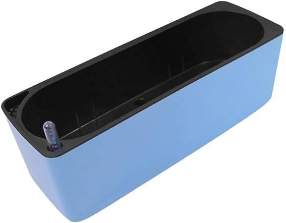 LOVIVER Macetas Rectangular Plástico Duradero en Interiores con Riego Automático - Azul: Amazon.es: Jardín