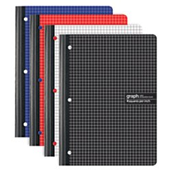 Office Depot(R) Brand Composition Notebook, 8 1/2in. x 11in, Quadrille Ruled, 160 Pages (80 Sheets), Assorted Colors