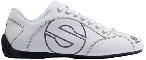 - Sparco 00120146BI Esse Leather Leisure Shoes White Size: 46