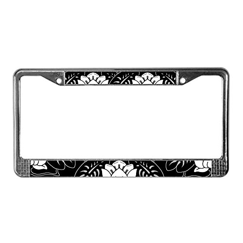 Jesspad Water-Lily-Motif_Lpu.Png - Chrome License Plate Frame, License