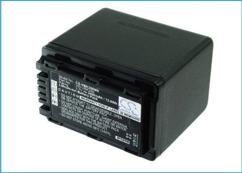 3400 mAh交換用バッテリーPanasonic hc-v10、hc-v500 m B017PDAL76