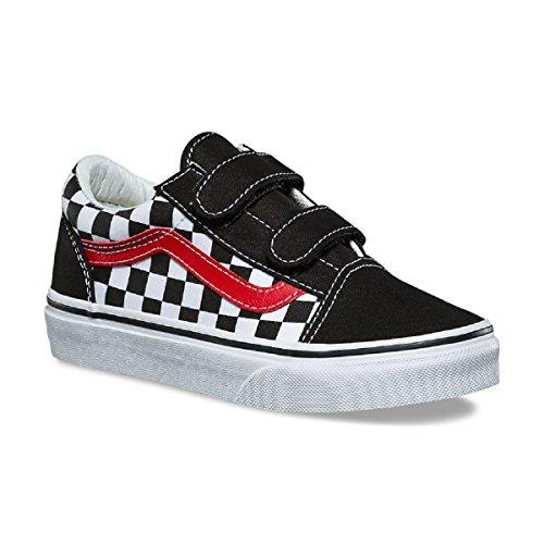 (Vans Kids' Old Skool V-K (3 M US Little Kid, (Checkerboard))