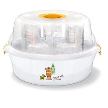Beurer JBY 40 Esterilizador de vapor para microondas, blanco/amarillo