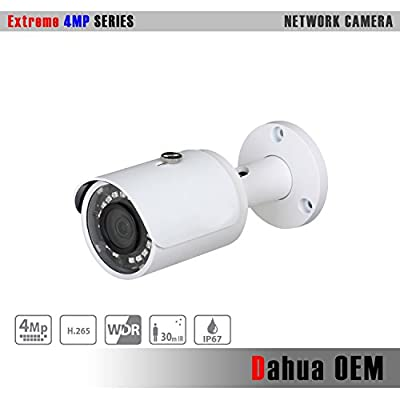 Dahua OEM 4MP IP Camera 3.6mm Fixed PoE IP Camera WDR IR Bullet Camera by Dahua