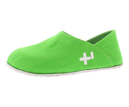 OTZ Shoes Unisex OTZ300GMS Linen Slip-On, Fluro Green, 36.5 EU (6.5 M US Women)