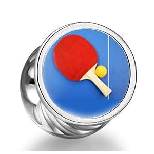 Olympiade 2012 in London eine Tischtennisplatte Paddel und Ball Zylindrische...