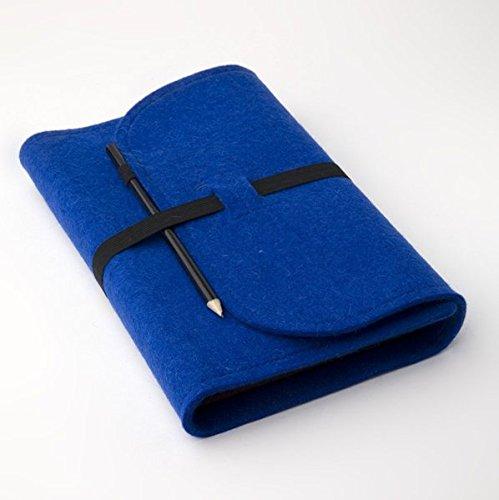 buchfilz Buchhülle - Blau: Variable Lesehülle aus Wollfilz