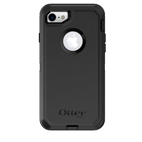 OtterBox DEFENDER SERIES Case & Holster for iPhone 7 / 8 Only (Not for PLUS) - Black (Certified -
