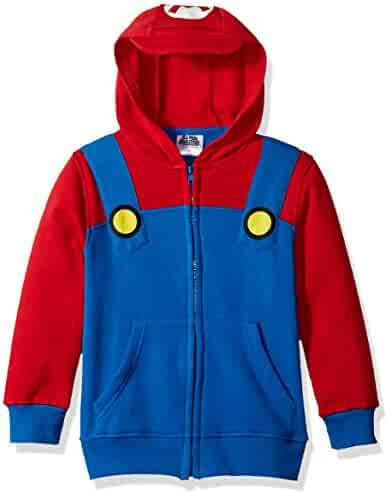 Nintendo Big Boys' Mario Fleece Zip Costume Hoodie