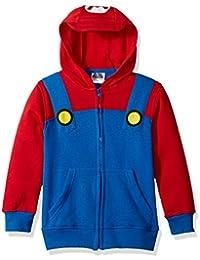 Big Boys' Mario Fleece Zip Costume Hoodie