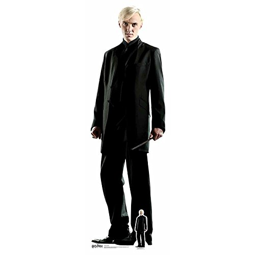 From the Official Harry Potter Books Star Cutouts Lifesize Cardboard Cutout of Draco Malfoy (Tom Felton) 178 cm Tall STAR CUTOUTS LTD SC644