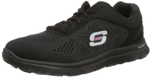 Skechers Flex Appeal Love Your Style, Chaussons Sneaker Femme Noir ()