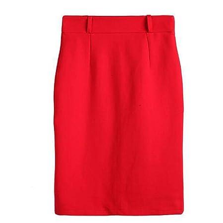 Liuxiaomao Minifalda para Mujer, Falda de lápiz, para Trabajo ...
