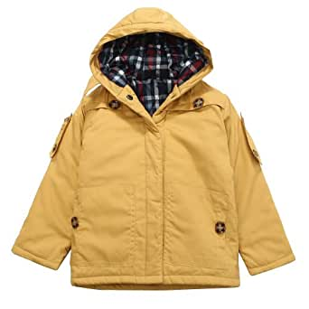 Richie House Girls' Padding Jacket with Attached Hood RH1290-B-12M