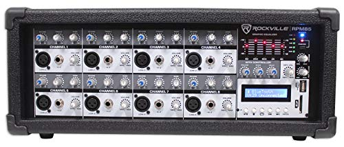 Rockville  RPM85 2400w Powered 8 Channel Mixer