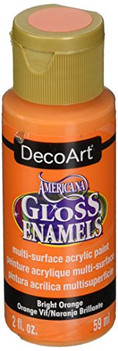 Americana 2-oz. Bright Orange Gloss Enamel Paint