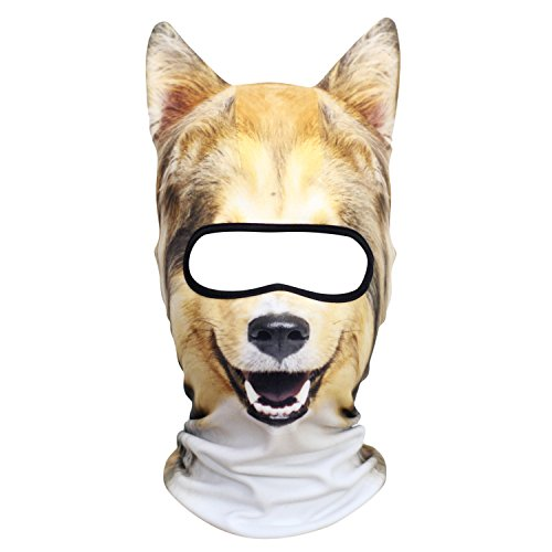 AXBXCX Animal 3D Animal Neck Gaiter Warmer Full Face Mask Scarf Windproof Dust UV Sun Protection for Skiing Snowboarding Snowmobile Halloween Collie Scottish Shepherd -