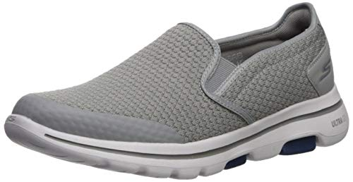Skechers Men's GO Walk 5 - APPRIZE Shoe, Light Gray/Blue, 12 M US (Shoes Skechers Light)