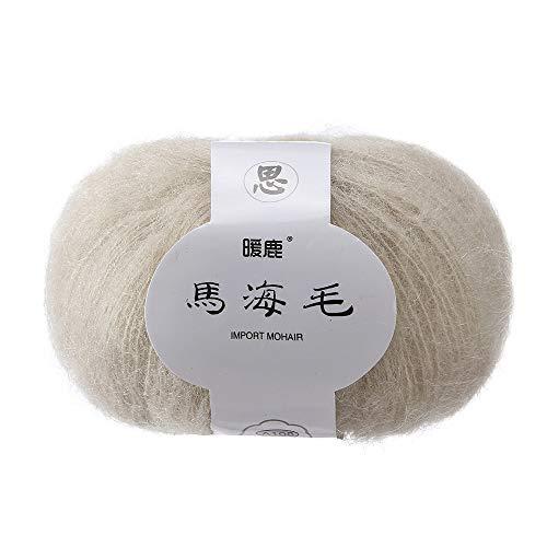 Yu2d  Soft Mohair Knitting Wool Yarn DIY Shawl Scarf Crochet Thread Supplie C(C)
