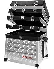 Arapaima Fishing Equipment® aluminuim Zitting en uitrustingsdoos 4 drawers Hengelsporttas