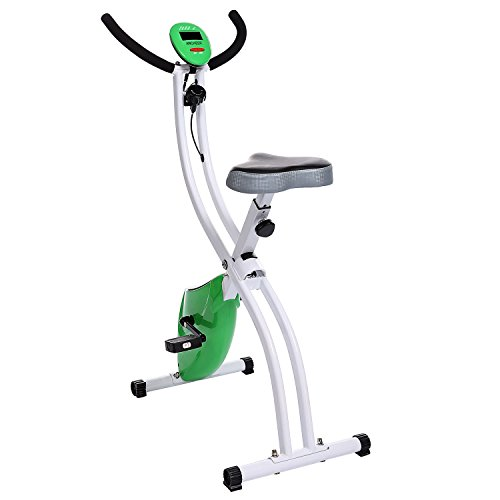 Ancheer Indoor Magnetic Folding Exercise Bike Green