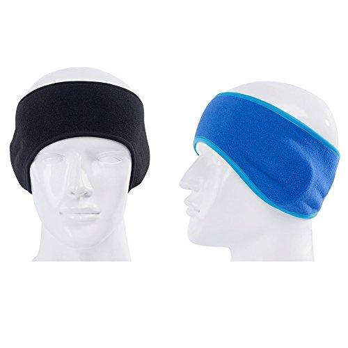 Fleece Headband (GoYonder Fleece Thermal Headbands Ear Warmers Black Blue)
