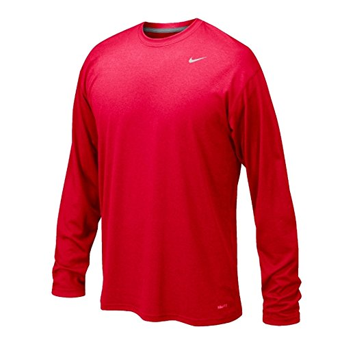 Team Training Shirts (Nike Legend Long Sleeve Dri-Fit Tee T-Shirt Training Red Size)