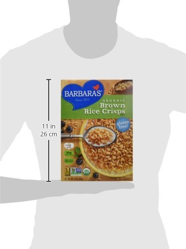 Barbaras Bakery Brown Rice Crisps Cereal 10 oz. (Pack of 6)