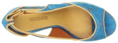Missoni SANDALO TESS+PELLE .ZATT.ALTO TM14 B - Sandalias de tela para mujer Turquesa
