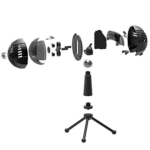 MODAR USB Cardioid Microphone Stand, Studio Broadcasting Recording Condenser Mic Desktop Professional with LED Power Indicatior, Volume Adjuster, Mute Button, USB Port and Headphone Jack by MODAR (Image #8)