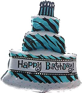 Foil Birthday party three-Layer Cake Candle birthday Balloon