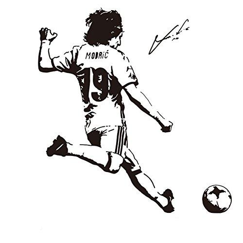 Fangeplus(R) DIY Removable Luka Modric Soccer Football Player Star Art Mural Vinyl Waterproof Wall Stickers Kids Room Decor Nursery Decal Sticker Wallpaper25.9''x27.5'' by Fangeplus