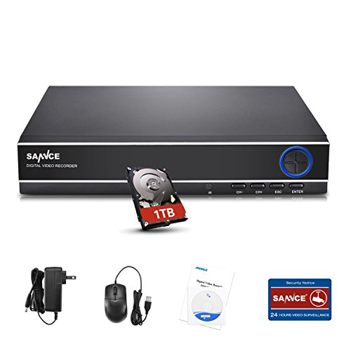 SANNCE 5-in-1 4 Channel 1080N Digital Video Recorder with 1T