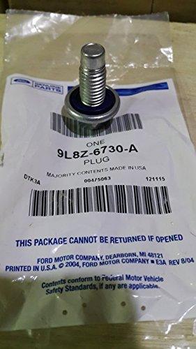 Engine Oil Drain Plug Part Number 9L8Z6730A (Oil Plug Drain Special)