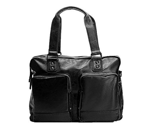 Santimon Fashion Briefcase Messenger Bag For Man Large Ca...