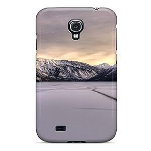Hot Design Premium Tpu Case Cover Galaxy S4 Protection Case(lake Minnewanka Canada In Winter)