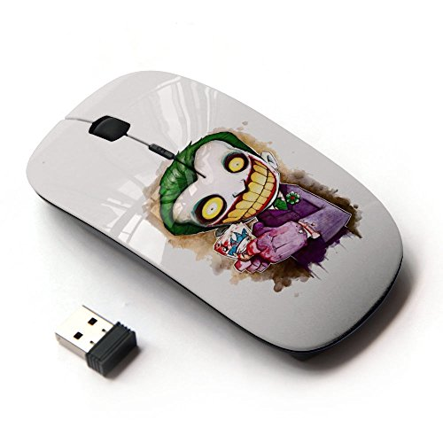 KawaiiMouse [ Optical 2.4G Wireless Mouse ] Scary Clown White Face Big Teeth Skeleton (Clown Faces Scary)