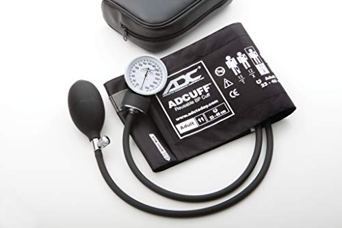 - ADC 760-11ABK Prosphyg 760 Pocket Aneroid Sphygmomanometer with Adcuff Nylon Blood Pressure Cuff, Adult, Black