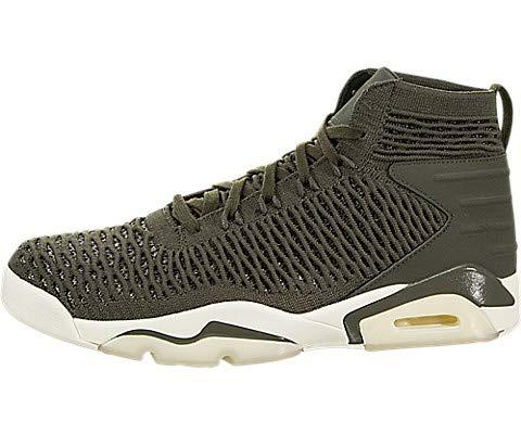 new styles 508cf bba88 Jordan Nike Men s Flyknit Elevation 23 Cargo Khaki Cargo Khaki Sail  Basketball Shoe 9.5