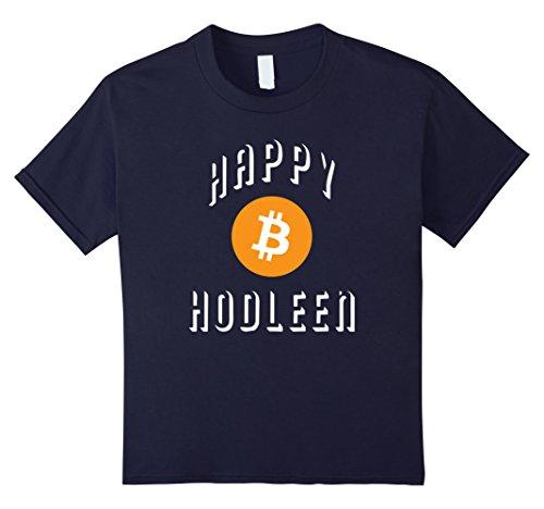 Kids Happy HODLeen HODL Bitcoin Halloween Costume Tee Shirt Funny 12 Navy (Halloween Costumes Play On Words)