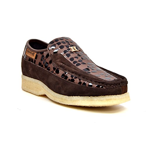 Croc Collection Leather British 8 On and Brown Stone Shoes Suede Slip nHEnpgx