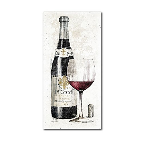 Art Pencil Framed Print - Pencil Wine I Artwork by Avery Tillmon, 16 by 32-Inch Canvas Wall Art
