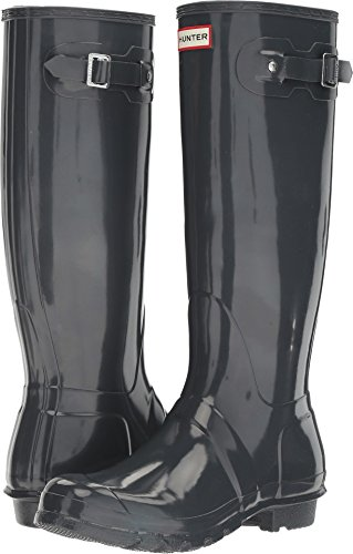 Hunter Women's Original Tall Gloss Dark Slate Shoe, 7 B(M) US by Hunter