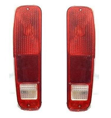 75 - 91 Ford Van Full size Taillight Taillamp Pair Set E150 E250 E350 Driver and Passenger - 1977 77 Ford Econoline Van